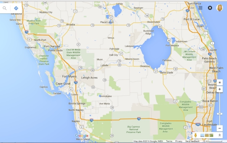 Central Florida Map