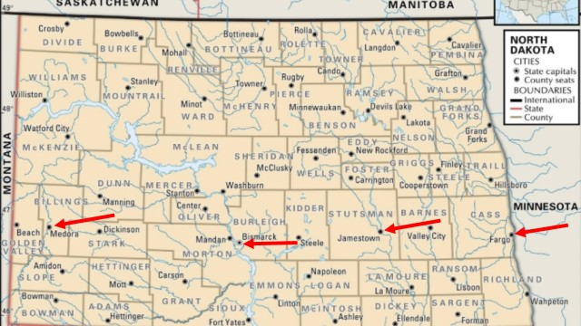 Westward Across North Dakota Fargo Bismarck Medora July 9 to 17